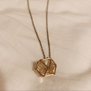 FOREVER 21 gold geometric necklace